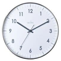 Acctim Jenson Chromed Wall Clock - 30cm